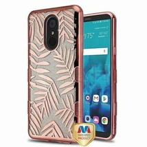 Dancing Palm Leaves Glitter TUFF Hybrid Case Cover for LG Stylo 4 Plus/S... - $11.07