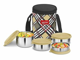 Milton Smart Meal Insulated Lunch Box, Set of 4, Yellow - $33.65