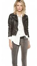 Free People Size Small Black Moto Vegan Faux  Leather Jacket - $52.25