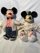 2 Vintage Disney Applause Mickey Mouse Dolls Please Read - $18.81
