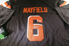 BAKER MAYFIELD / CLEVELAND BROWNS QB / AUTOGRAPHED BROWNS PRO STYLE JERSEY / COA image 1