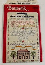 Butterick 4262 Americana Samplers Embroidery Transfer Pattern Uncut Vintage - $8.99