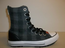 Converse Size 6.5 CT HI-RISE BOOT Gray Wool Woolrich Boots New Womens Shoes - $98.01