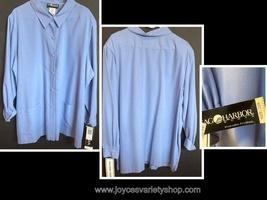 Sag Harbor Blue Blouse Button Down Woman Sz 24W Long Sleeve - $16.99