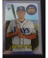 2018 Topps Heritage High THC-643 Willy Adames Rays Purple Chrome Refract... - $12.00
