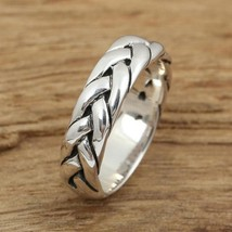 Fashion Couple jewelry real 925 silver  Luxury Wedding Band Ring full size  - $25.85