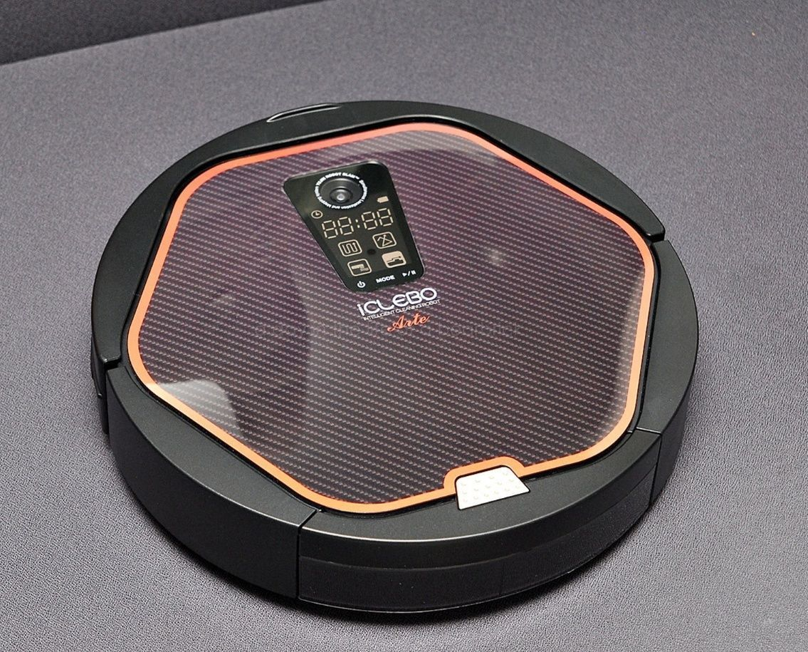 iCLEBO ARTE YCR-M05-10 Robot Vacuum Cleaner - Modern Black ( New Catch Mop x2)