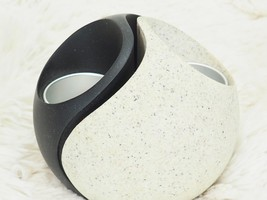 Partylite Yin Yang Tealight Candle Holders 2 Piece Set P7981 w/ Box Blac... - $98.01