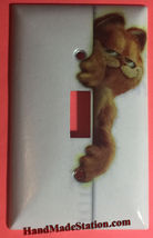 Carfield Cat behind the Wall Light Switch Outlet Toggle Cover Plate Home Decor image 1