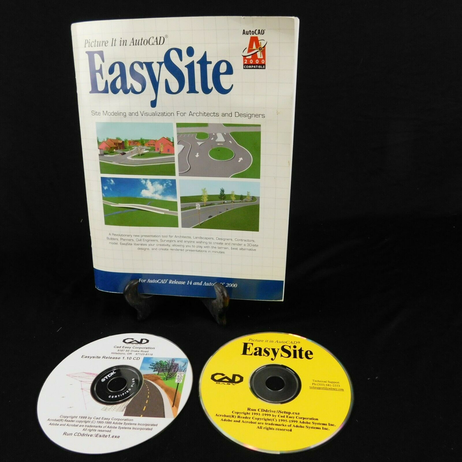 Primary image for Easy Site Rel. 1.10 for Autocad 14 - 2000 Site Modeling Manual CD Serial Number
