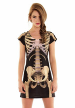 Faux Real Skeleton Sublimated Photorealistic Halloween Costume Dress F13... - $36.74