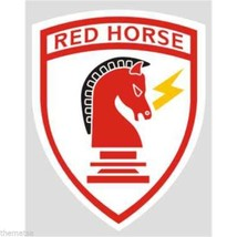 "USAF AIR FORCE RED HORSE MILITARY 3.75""  STICKER  DECAL - $15.33"