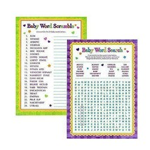 Baby Shower Playing Games Words Search Word Scramble Fun Activities - ₨409.76 INR