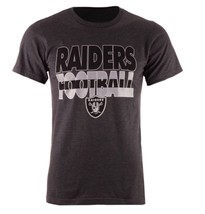 Oakland Raiders Majestic L Large Cover 3 Triple Peak Heather Charcoal T-... - €20,77 EUR