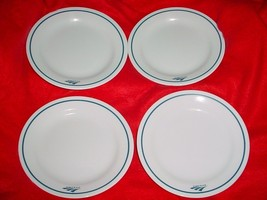 4 CORELLE AMTRAK BREAD PLATES 6&1/8 INCH DIAMETER BRAND NEW FREE USA SHI... - $28.04