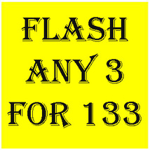 WED -THURS FLASH SALE! PICK ANY 3 FOR $133  BEST OFFERS DISCOUNT - $266.00