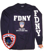 FDNY T-Shirt Long Sleeve Officially Licensed by New York City Fire Depar... - $19.99
