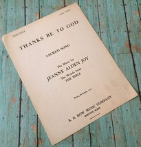Vtg Thanks Be To God Sheet Music Sacred Song Jeanne Alden Joy Collectibl... - $9.89