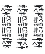 Custom Minifigures Military Army Guns Weapons Compatible w/ Lego Sets Mi... - $10.99
