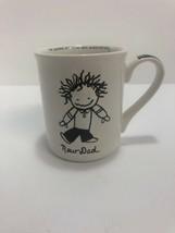 New Dad Coffee Mug White Black Cup Marci Enesco Children Of The Inner Light  - $9.89