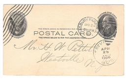 UX18 Postal Card Asbury Park NJ Duplex 1906 Westville Recd Coast Hardwar... - $4.99
