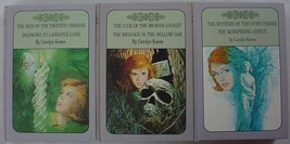 Nancy Drew Twin Thrillers 3 LOT Lavender covers Book Club Editions #9-14... - $12.00