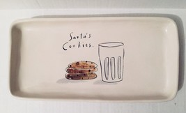 Rae Dunn Christmas Santa's Cookies Large Platter Serving Tray Rare - $143.55