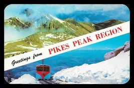 Pikes Peak Postcard Colorado Greetings Mountains Railroad Train CO PC - $14.99