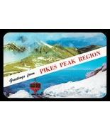 Pikes Peak Postcard Colorado Greetings Mountains Railroad Train CO PC - $14.99