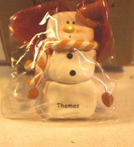 CHRISTMAS ORNAMENTS WHOLESALE- SNOWMAN- 13355- 'THOMAS'-  (6) - NEW -W74 - $5.83