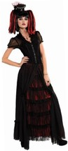 Costume Bloodline Pleasant Nitemares Long Skirt and Mini-hat, Black/Red,... - $19.73