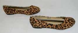 Anna Truman 1 Loepard Print Suede Womens Flats Size 5 And Half image 4