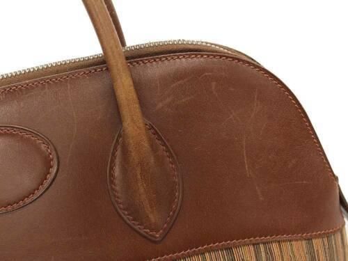 HERMES Bolide 35 Vibrate Brown Handbag Shoulder Bag #D Authentic 5473007 image 4