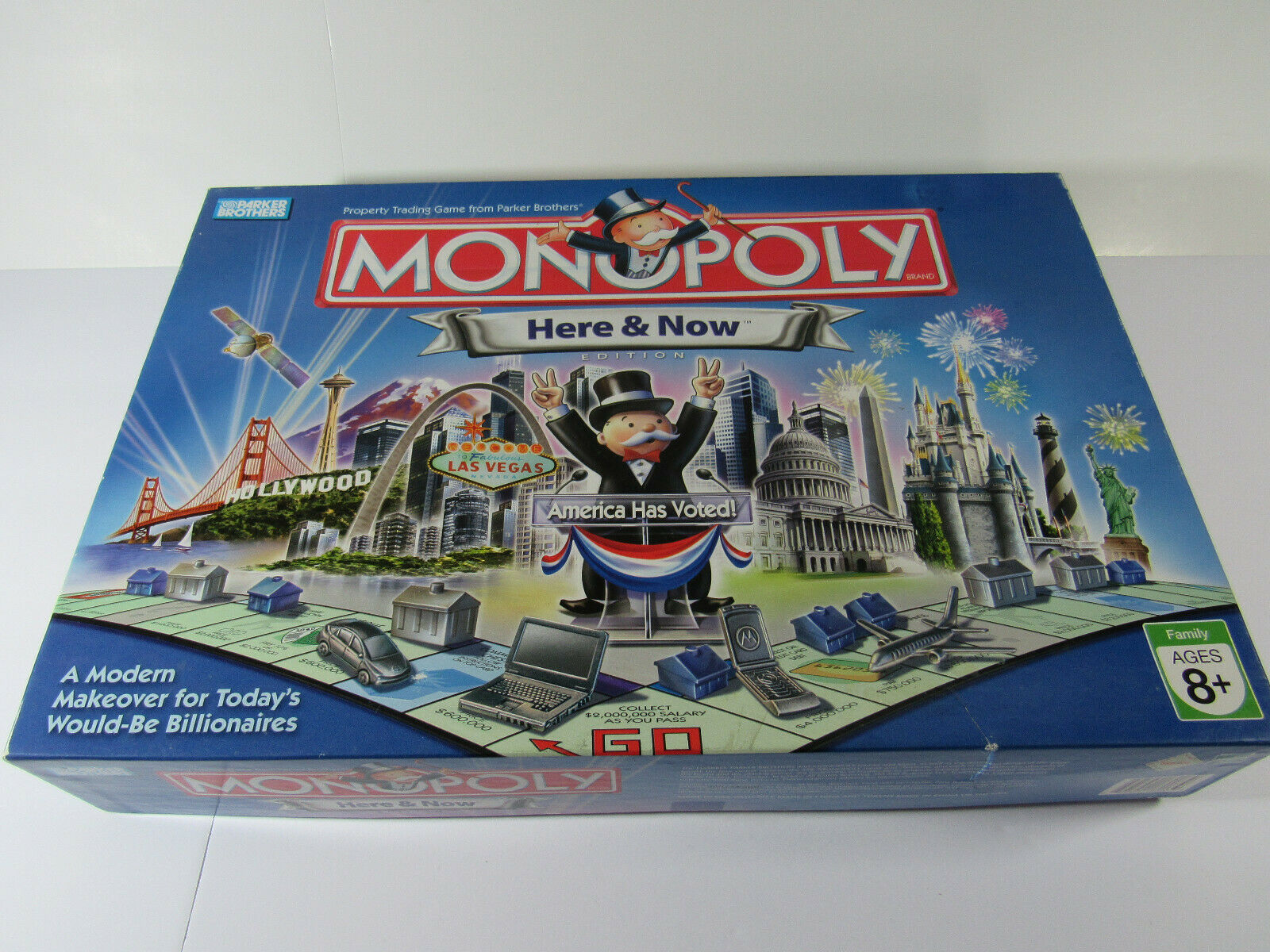 Primary image for MONOPOLY HERE AND NOW EDITION AMERICA HAS VOTED Board Game Used