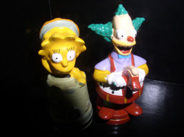 The SimpsonsKrusty the clown and Lisa Simpson with hat  2 PVC Figurines - $19.99