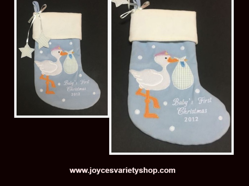 Baby christmas stocking web collage