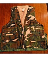 SPORTS AFIELD VTG Game BIRD Hunting Vest CAMO Gamebag Pocket Sz L Shells... - $17.88