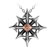Alchemy of England Gothic Chaostar Compass Virtue Punk Pendant Necklace ... - $29.99