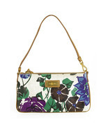 Car Shoe Multicolor Floral print Canvas Clutch Bag Handbag Zip Top Pochette - $78.21