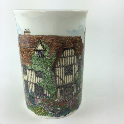 Dunoon Tudor Cottage House Sue Scullard Stoneware Mug Cup Made in Scotland 8 oz