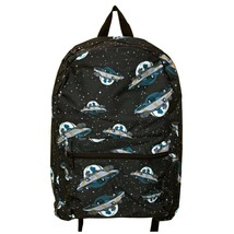 Rick And Morty UFO Backpack Black - $30.98
