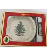 """Spode Christmas Tree 10 """" Fluted Edge Pie Dish with  Bird New in Box Unused - $57.00"""