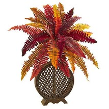 "Nearly Natural 8537 30"" Autumn Boston Fern Artificial Weave Planter Silk... - $77.27"