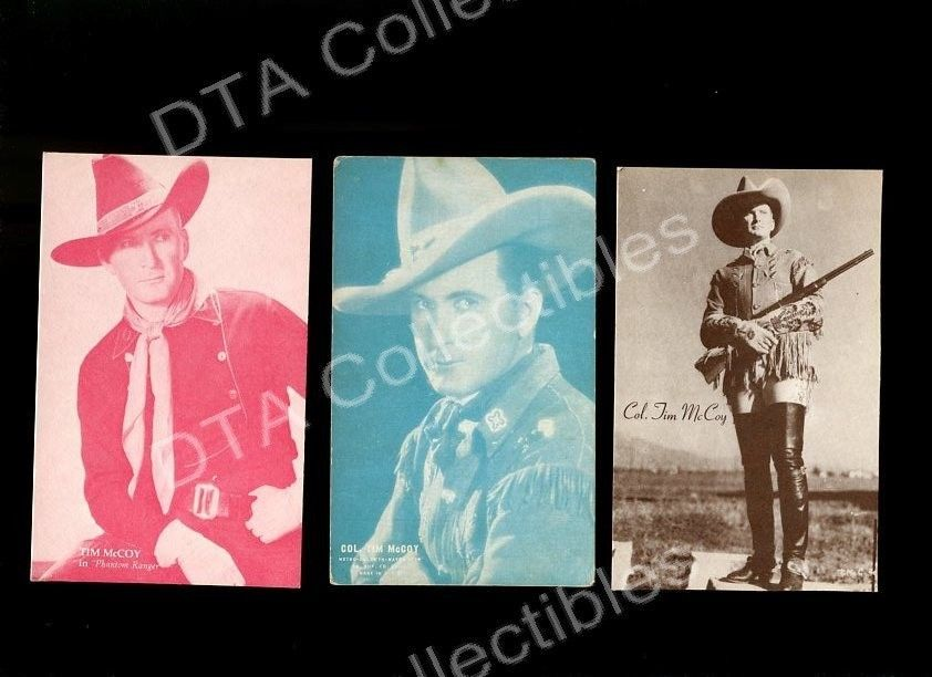 Primary image for COL. TIM McCOY-ARCADE CARD LOT-PHANTOM RANGER FR/G