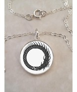 Sterling Silver 925 Necklace Dragon Serpent Ouroboros infinity - $30.20+