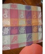"SET OF 4 Fall Print Cloth Napkins~Maple~Rust~Brown~Gold~17""~Fabric~EUC - $15.20"