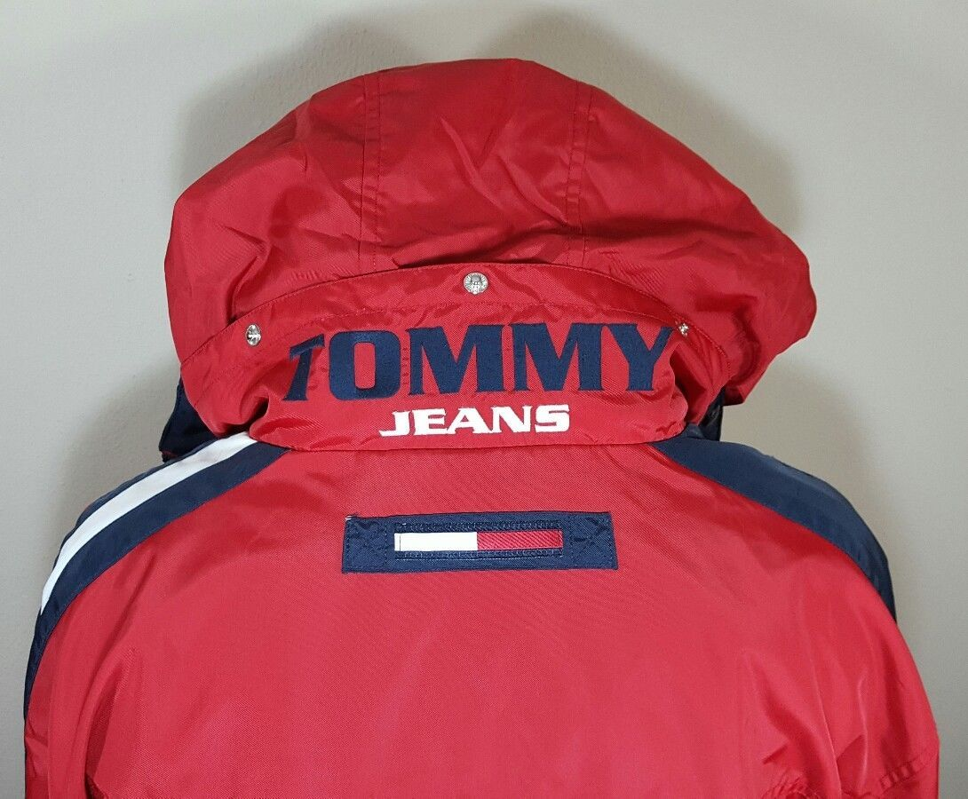 Primary image for VTG Tommy Hilfiger Jacket Flag Windbreaker Colorblock 90's Spell Out XL Coat