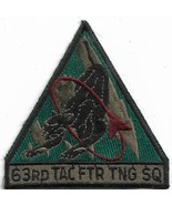 USAF 63 FS 63rd Fighter Squadron F-16 Unit Panthers Vintage Patch - $11.87