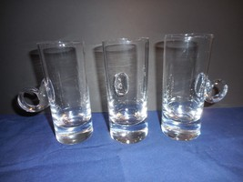 Set of 3 Lenox Irish Coffee Mugs/Cups Crystal Loop Handle Glow w/ Black ... - $22.00