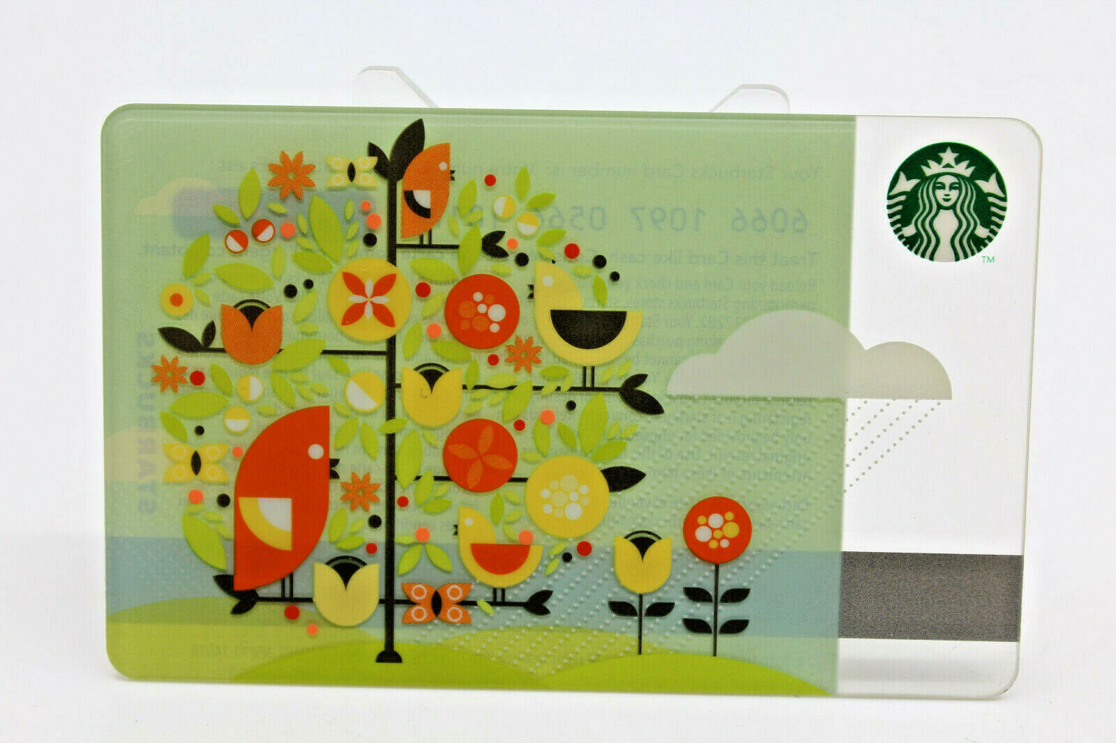Primary image for Starbucks Coffee 2010 Gift Card April Showers  Birds Tree Zero Balance No Value